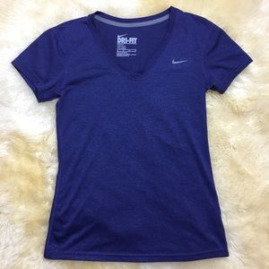 Navy blue Nike workout top